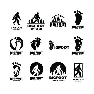 Big foot yeti logo icon design