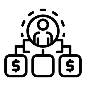 Consumer behavior icon. Outline consumer behavior vector icon for web design isolated on white background