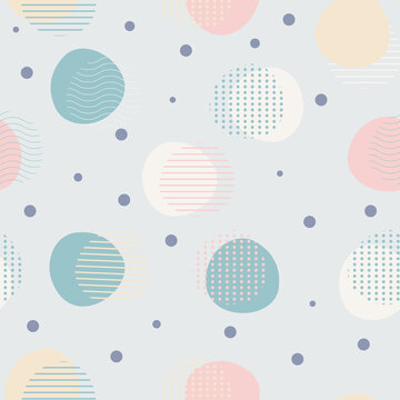 Seamless pattern with abstract and geometric shape