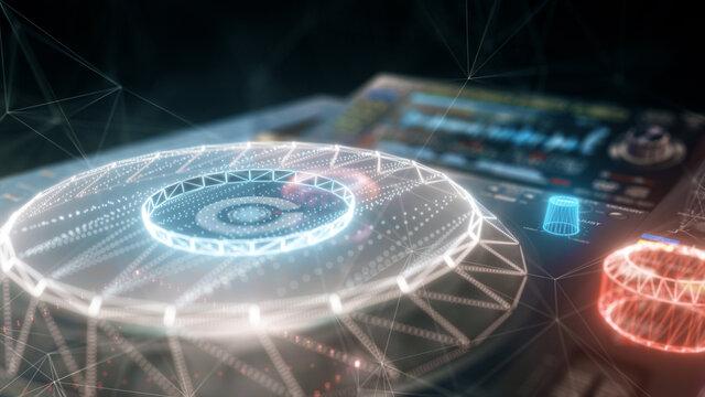 3d rendered illustration of dj sound hardware. High quality 3d illustration