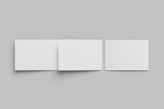 A4 landscape trifold brochure mockup