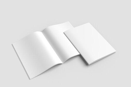 Blank brochure a4 white mockup