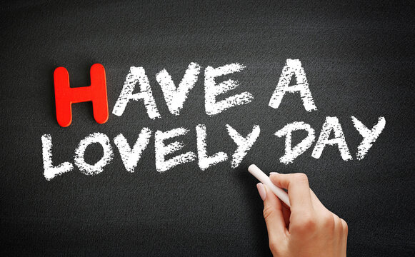 Have a Lovely Day text on blackboard, concept background