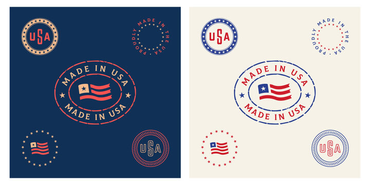 American made in usa stamp vitnage vector badge