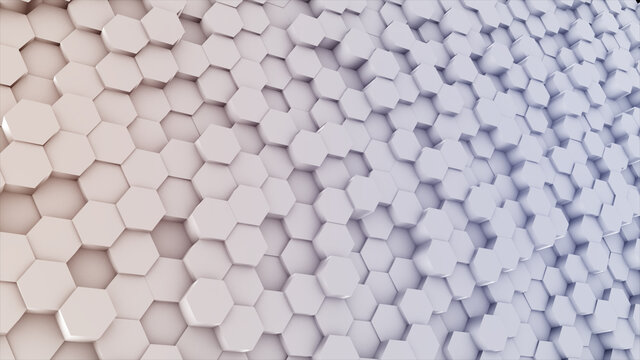 3d rendered illustration of Hexagon Colored Background main. High quality 3d illustration
