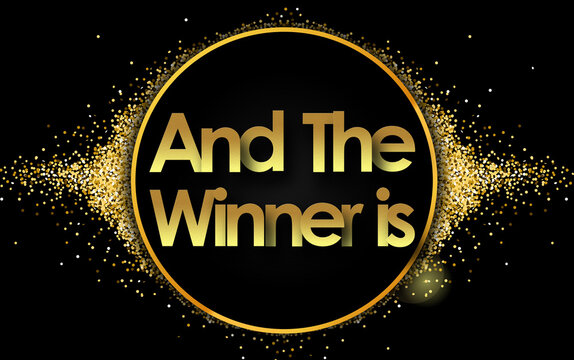 And the winner is in golden circle stars and black background