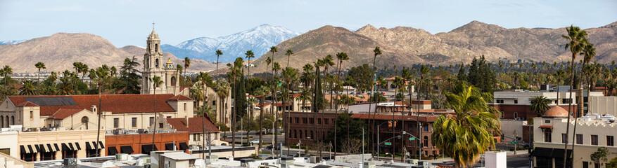 Daytime skyline view of Downtown Riverside, California, USA.
