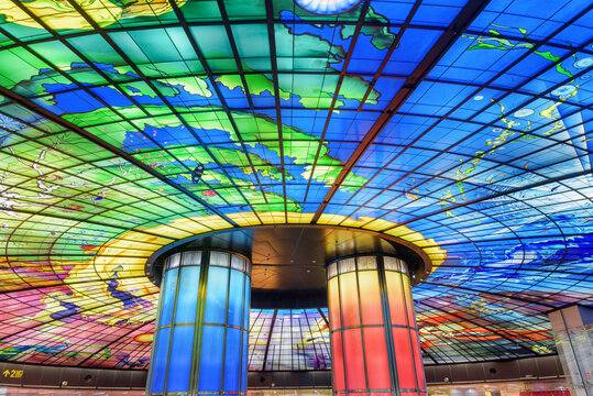 Fantastic view of the Formosa Boulevard Station in Kaohsiung
