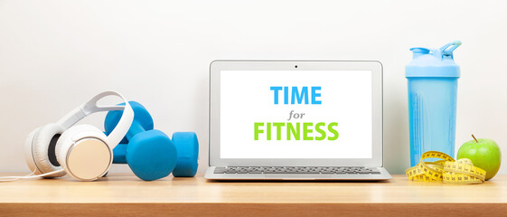 Healthy lifestyle, fitness, sport and online technology