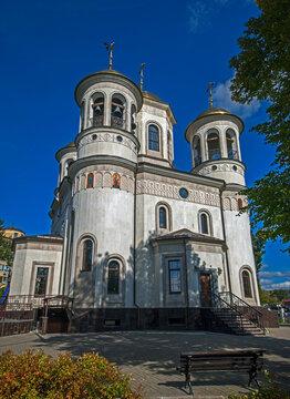 Ascension Christi cathedral in the city of Zvenigorod, Russia