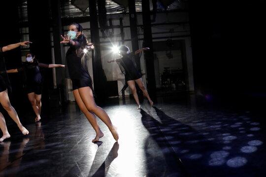 Dance performance amid the coronavirus disease (COVID-19) outbreak in Jakarta