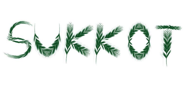Sukkot israel's festival vector illustration.