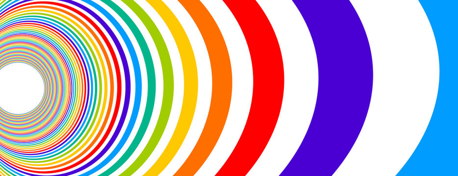 Colorful rainbow abstract vector lines psychedelic optical illusion illustration, surreal op art linear curves in hyper 3D perspective, crazy distorted design, drug hallucination delirium,