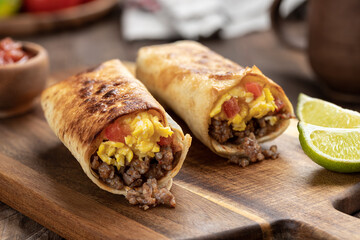 Breakfast Burritos With Egg and Sausage