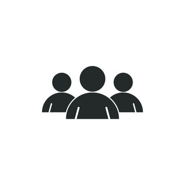 three people icons groub ,team people silhouette icon vector EPS download.