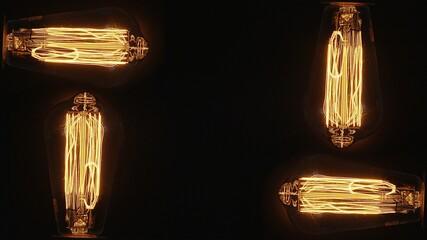 Fototapeta Cztery żarówki Edisona  obraz