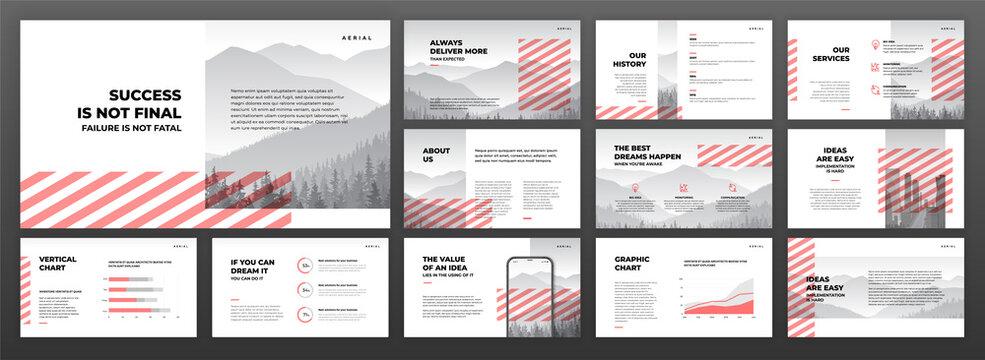 Creative presentation templates set. Use for creative presentation background, brochure design, website slider, landing page, annual report, company profile.