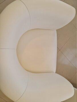 sofá branco, almofada, assento, sofá, conforto