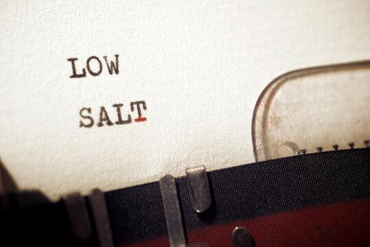 Low salt text