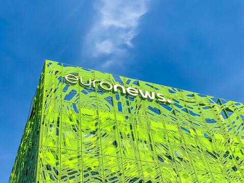 Euronews, european television network brand logo