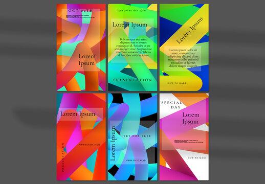Social Media Post Layout with Futuristic Gradient Fluid Shape