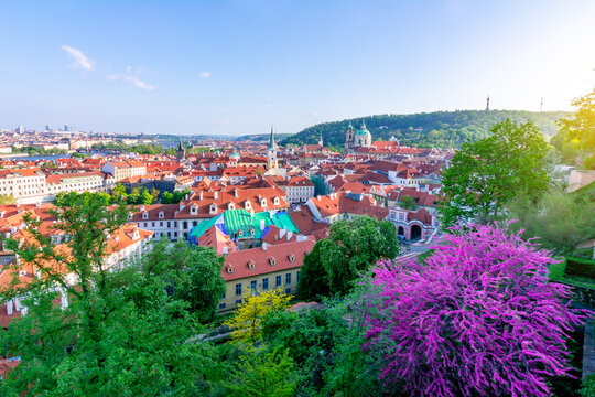 Mala Strana (Lesser Town) panorama seen from Hradcany castle, Prague, Czech Republic