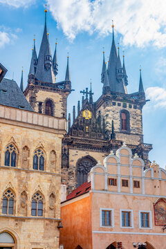 Church of Our Lady before Tyn on Old town square, Prague, Czech Republic