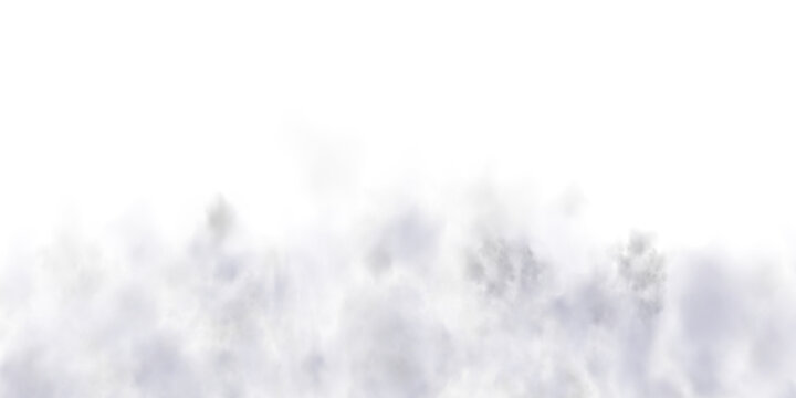 Fog or smoke isolated transparent special effect. White vector cloudiness, mist or smog background. PNG. . Vector illustration