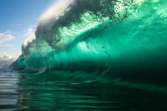 bright turquoise wave