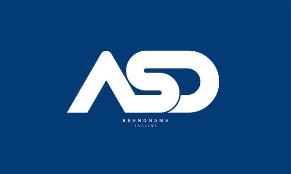 Alphabet letters Initials Monogram logo ASD, AS, SD
