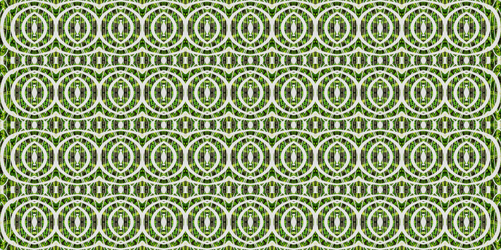 Colorful African fabric - Seamless and textured pattern, illustration