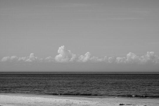 Summer day at the seashore of Riga gulf, Baltic Sea