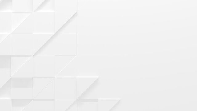 White Geometric Background With Copy Space (3D Illustration)