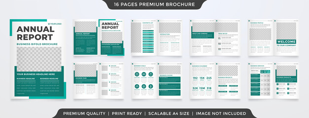 Fototapeta a4 business annual report template design with minimalist layout style use for company profile and portfolio obraz