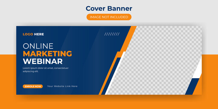 webinar facebook cover banner online digital marketing business social media post design template