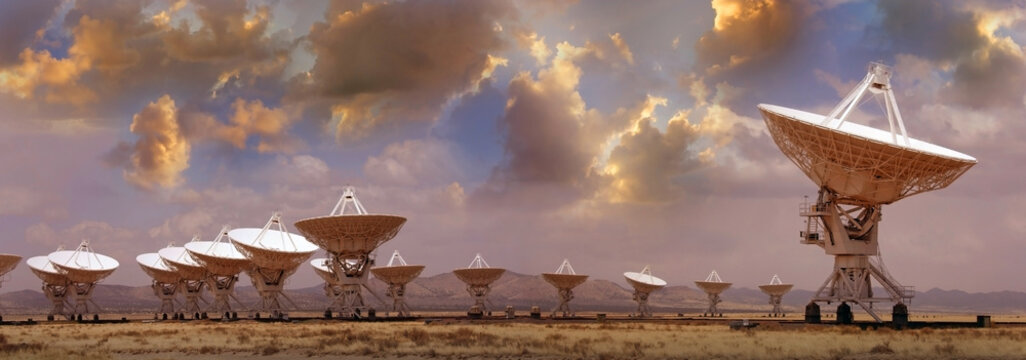 Very Large array radio telescope in New Mexico