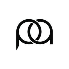 Obraz  illustration vector graphic of logo letter pa - fototapety do salonu