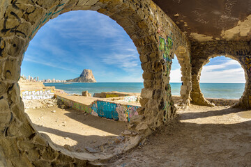 widok morze spokój okna wakacje klimat ruiny