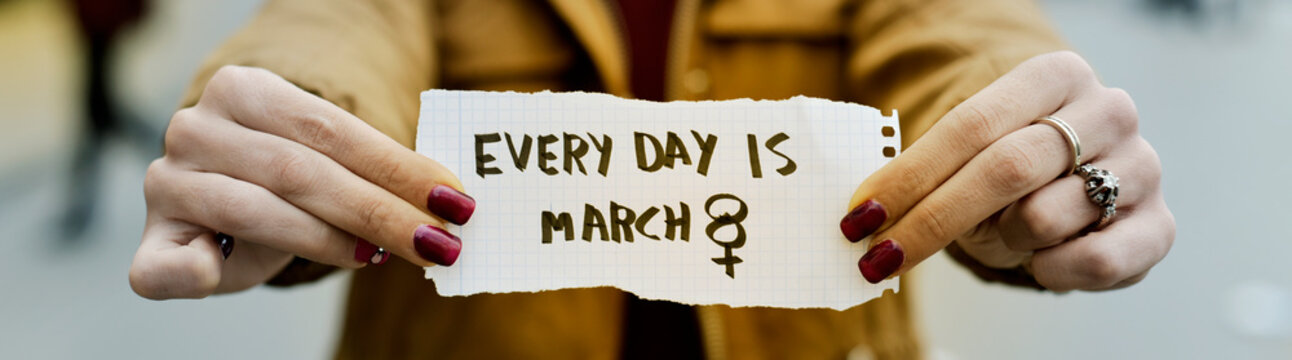 text every day is march 8, web banner