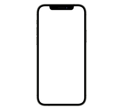 Mockup / template. Smartphone with blank screens for your design isolated on white background.