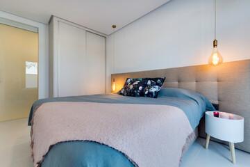 Fototapeta Sypialnia łóżko wystrój obraz
