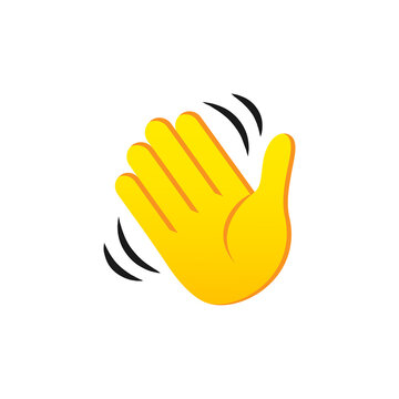 Waving Hand vector icon. Waving hand gesture symbol isolated on white background. Vector EPS 10
