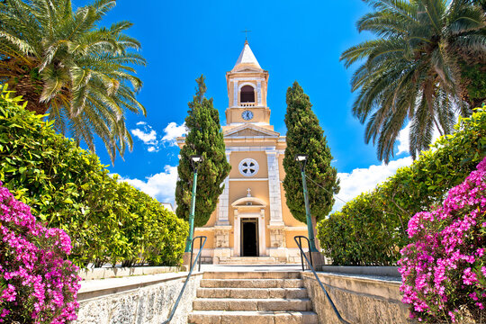 Town of Novalja church view, Island of Pag