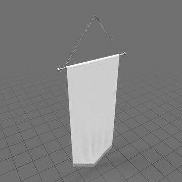 Tall wall pennant