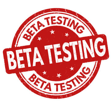 Beta testing grunge rubber stamp