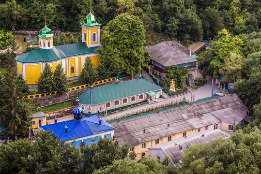 Buildings of Holy Trinity Monastery in Saharna village, Moldova