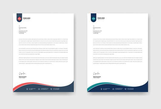 Modern business letter head template