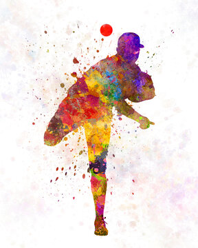 Baseball player throwing a ball 01