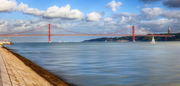 25 of April, Abril -  Bridge in Lisbon, Portugal.