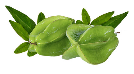 Fototapete - Carambola isolated on a white background.